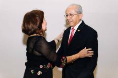Dra. Rocío Gómez Gallego, Presidente de la Academia y el Dr. Carlos Moran Villota